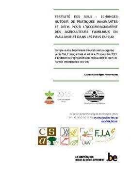 Compte - rendu du séminaire international sur la fertilité des sols
