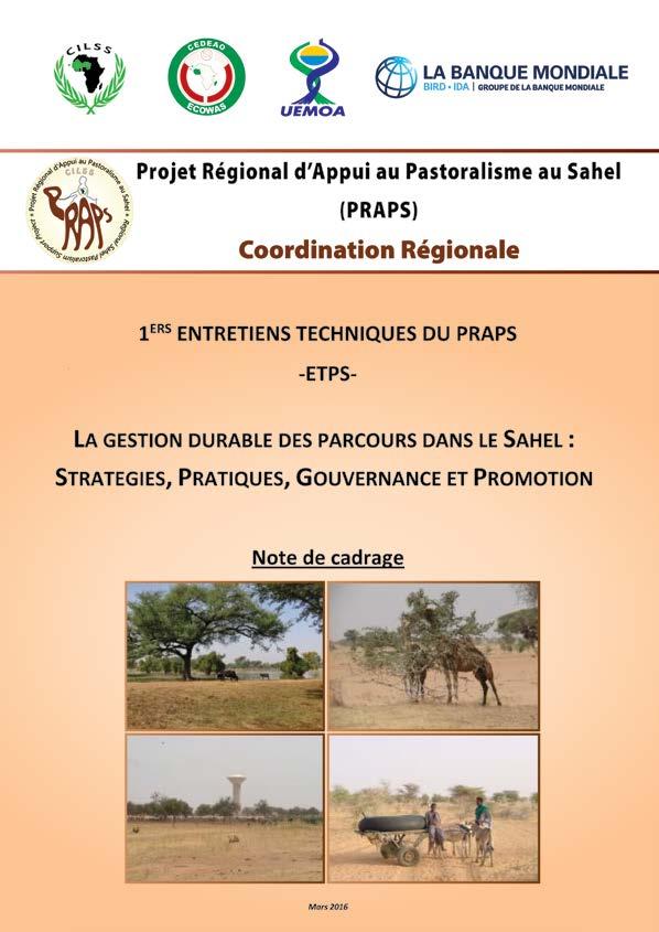 Note de cadrage 1ier entretien technique du PRAPS - la gestion durable des parcours dans le Sahel : stratégies, pratiques, gouvernance et promotion