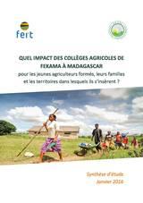 Etude d'impact des collèges agricoles de Fekama à Madagascar