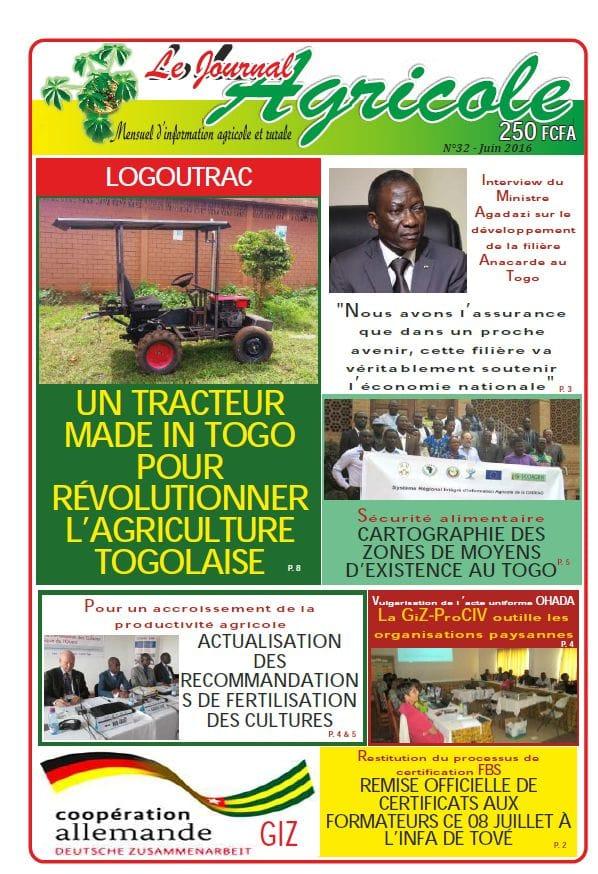Journal agricole n°32 (juin 2016)