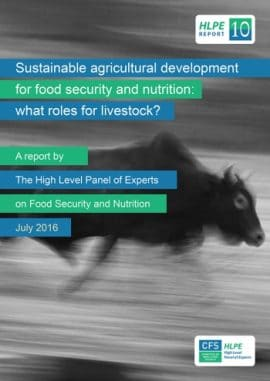 Le développement agricole durable au service de la  sécurité alimentaire et de la  nutrition: quels rôles  pour l'élevage?