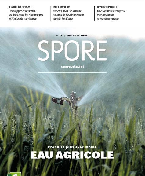 Spore n°181 - Eau agricole : produire plus avec moins