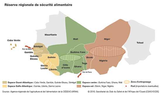 Maps & Facts : La réserve régionale de sécurité alimentaire (Afrique de l'Ouest)