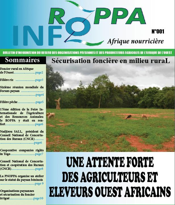 Bulletin d'information du Roppa (n°1)