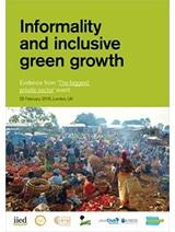 Inscrire l'informel dans la croissance verte et inclusive