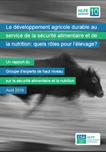 Rapport du HLPE sur les rôles de l'élevage dans le développement agricole durable