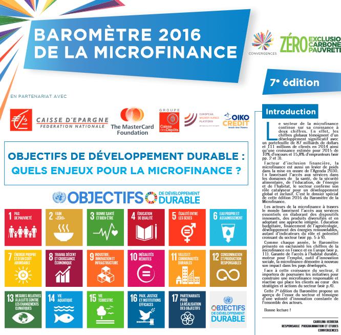 Baromètre de la microfinance 2016