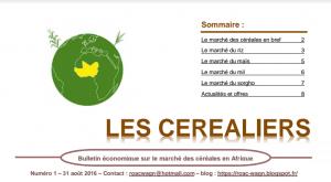 Bulletin sur le Marché des Céréales en Afrique de l'Ouest-Août 2016