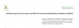 Contribution pour la mise en place d'une filière de menthe de qualité garantie à Casablanca et Meknès