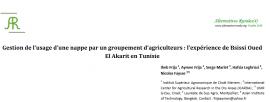 Gestion de l'usage d'une nappe par un groupement d'agriculteurs : l'expérience de Bsissi Oued El Akarit en Tunisie
