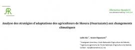 Analyse des stratégies d'adaptations des agriculteurs de Skoura (Ouarzazate) aux changements climatiques