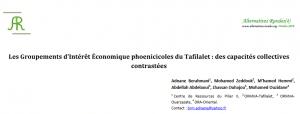 Les Groupements d'Intérêt Économique phoenicicoles du Tafilalet : des capacités collectives contrastées