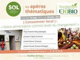 SOL : Apéro thématique: Consommer local de la France au Sénégal