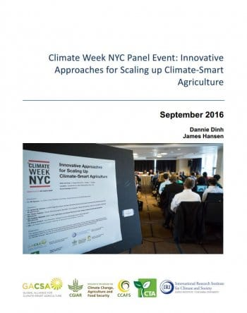Info-sharing networks and cross-sector partnerships help scale up climate-smart agriculture