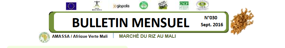 Le dernier Bulletin Riz Mali - n°30 Septembre 2016