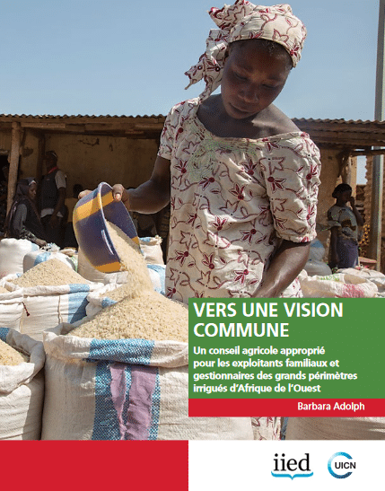 Vers une vision commune – Un conseil agricole approprié pour les exploitants familiaux et gestionnaires des grands périmètres irrigués d'Afrique de l'Ouest