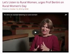 Let's Listen to Rural Women