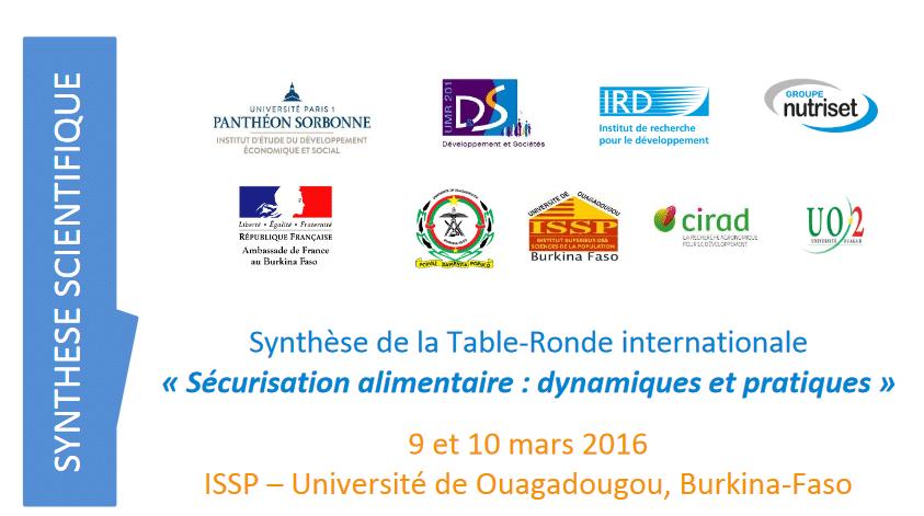 Table ronde « Sécurisation alimentaire: dynamiques et pratiques »: Synthèse