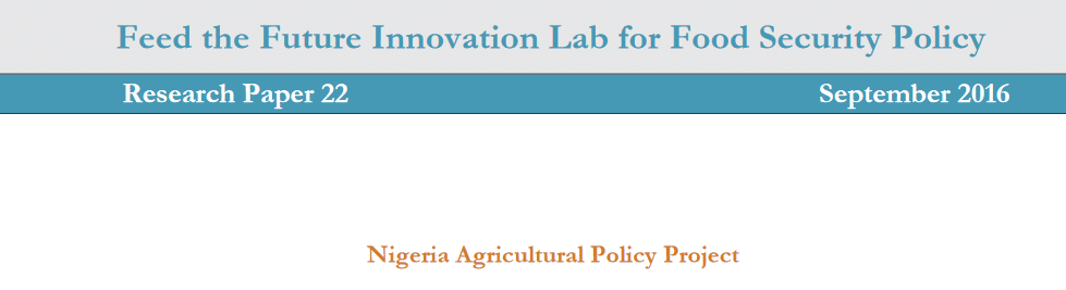Feed the Future Innovation Lab for Food Security Policy: research papers