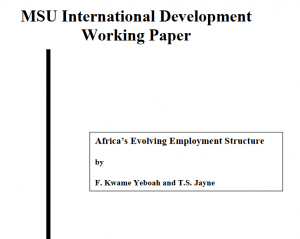 Africa's  Evolving  Employment  Structure