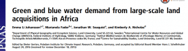 Green and blue water demand from large-scale land acquisitions in Africa