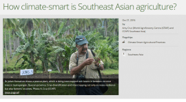 How climate-smart is Southeast Asian agriculture?