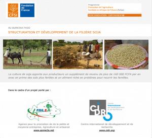 Structuration et développement de la filière soja au Burkina Faso