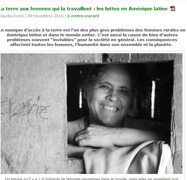 La terre aux femmes qui la travaillent: les luttes en Amérique Latine