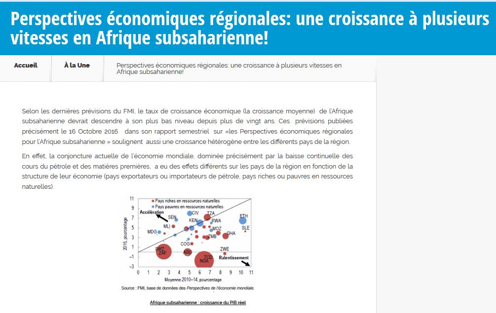 Perspectives économiques régionales: une croissance à plusieurs vitesses en Afrique subsaharienne!