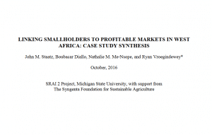 Linking smallholders to profitable markets in West Africa: case study synthesis