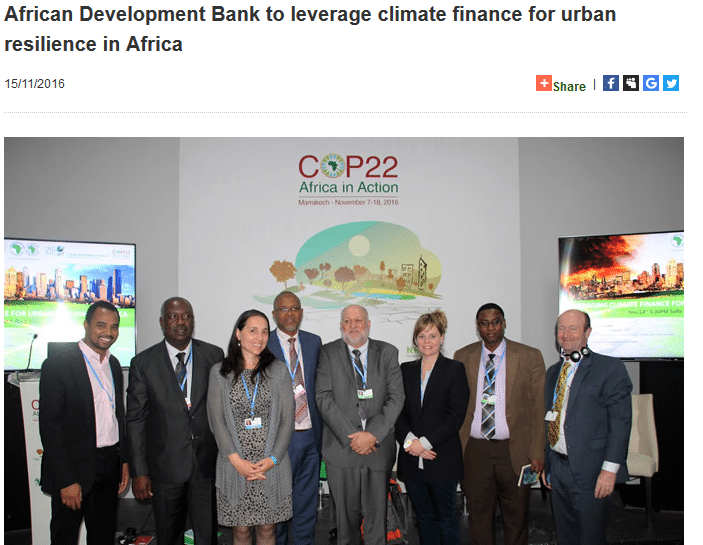 African Development Bank to leverage climate finance for urban resilience in Africa