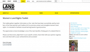 Women's Land Rights Toolkit