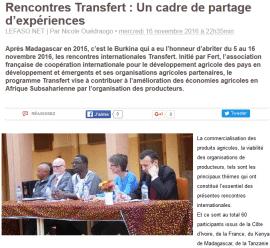 Rencontres Transfert : Un cadre de partage d'expériences