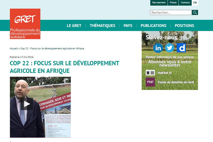 COP 22: Focus sur le développement agricole en Afrique