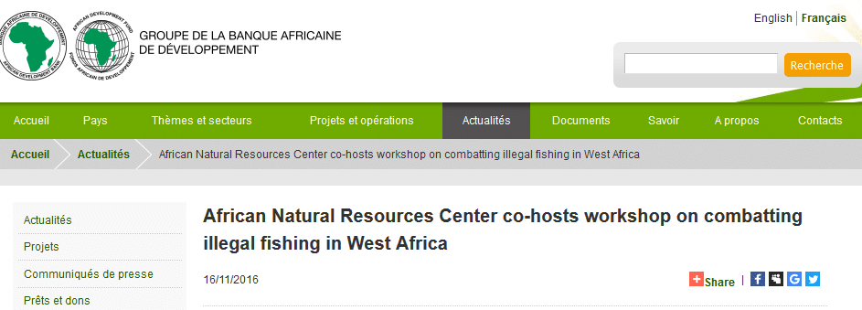 African Natural Resources Center co-hosts workshop on combatting illegal fishing in West Africa