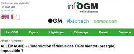 Allemagne - L'interdiction fédérale des OGM bientôt (presque) impossible