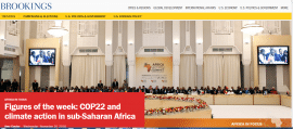 Figures of the week: COP22 and climate action in sub-Saharan Africa
