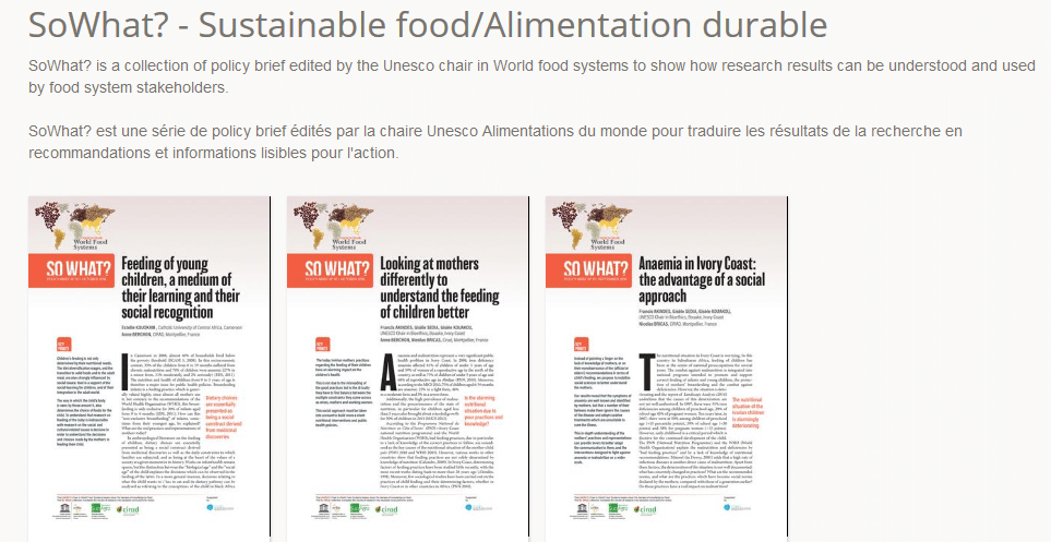 SoWhat? - Sustainable food/Alimentation durable