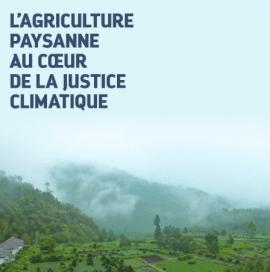 Etude : l'agriculture paysanne au coeur de la justice climatique