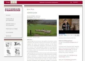 INRA : Mise en ligne d'un dictionnaire sur l'agroécologie