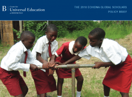 A Framework for Building Resilience to  Climate Change through Girls' Education  Programming