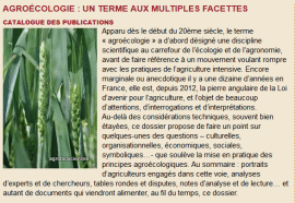 Agroécologie : un terme aux multiples facettes. Catalogue des publications