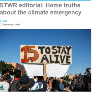 Home truths about the climate emergency