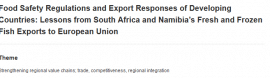 Study shows food safety regulations will promote agriculture exports