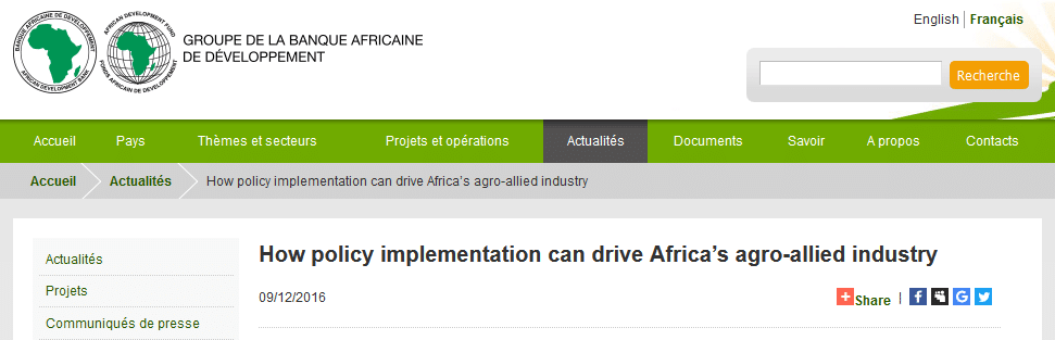 How policy implementation can drive Africa's agro-allied industry
