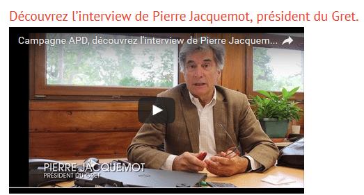 Campagne APD : découvrez l'interview de Pierre Jacquemot, président du Gret