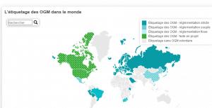 Quels pays ont adopté une réglementation sur l'étiquettage des OGM?
