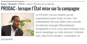 PRODAC : lorsque l'État mise sur la campagne
