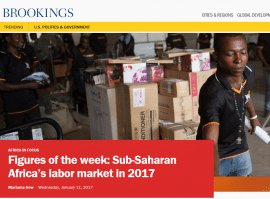 Figures of the week: Sub-Saharan Africa's labor market in 2017