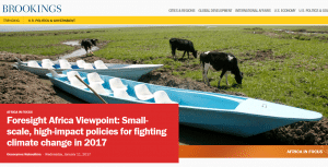 Foresight Africa Viewpoint: Small-scale